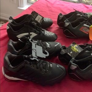 4 pair cleats brand new soccer shoes size 4 & 3
